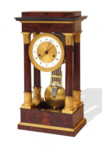 A Restauration ormolu mounted mahogany striking regulator clock