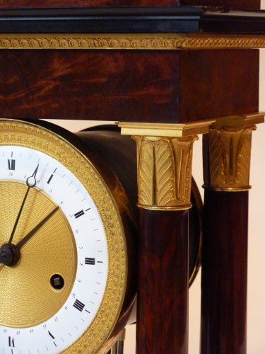 Clocks  - A Restauration ormolu mounted mahogany striking regulator clock