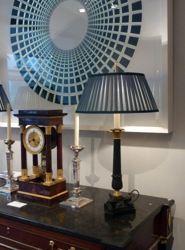 A Restauration ormolu mounted mahogany striking regulator clock - Restauration - Charles X