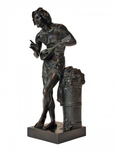 Francisque Duret - Vendangeur improvisant sur un sujet comique - Bronze