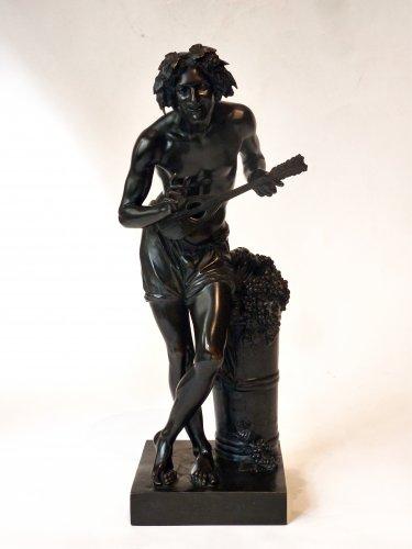 Francisque Duret - Vendangeur improvisant sur un sujet comique - Bronze - Sculpture Style