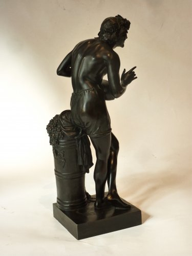Sculpture  - Francisque Duret - Vendangeur improvisant sur un sujet comique - Bronze
