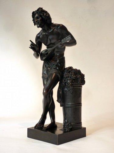 - Francisque Duret - Vendangeur improvisant sur un sujet comique - Bronze