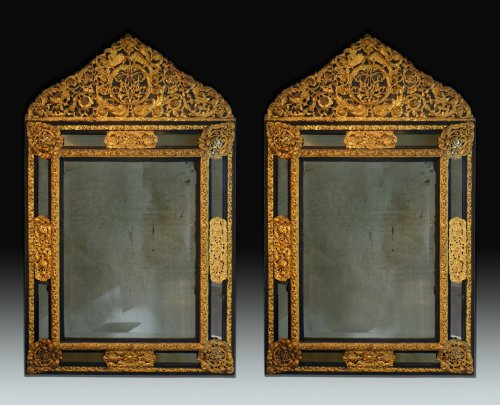 An important pair of Louis XIV style mirrors - Paris circa 1840