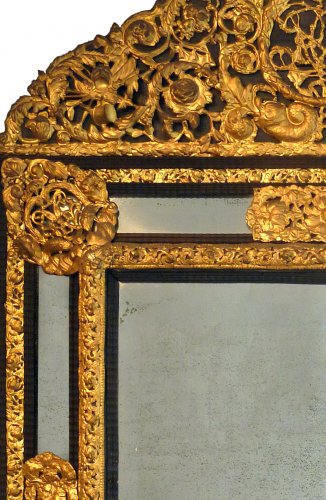 An important pair of Louis XIV style mirrors - Paris circa 1840 - Mirrors, Trumeau Style Louis-Philippe
