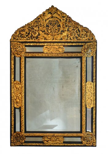 Mirrors, Trumeau  - An important pair of Louis XIV style mirrors - Paris circa 1840