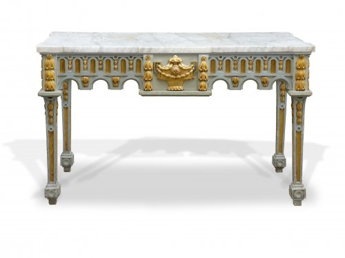 Grande table en console d'époque Louis XVI - Attribuée à Pierre Pillot - Nimes