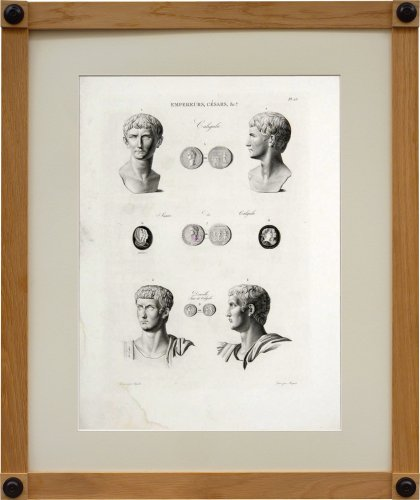 A set of six engravings from Iconographie Romaine by Visconti . Paris 1817 - Engravings & Prints Style Restauration - Charles X