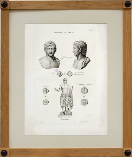 Gravures anciennes  - Ensemble de 6 gravures grand in folio Iconographie Romaine, par Visconti - Paris 1817