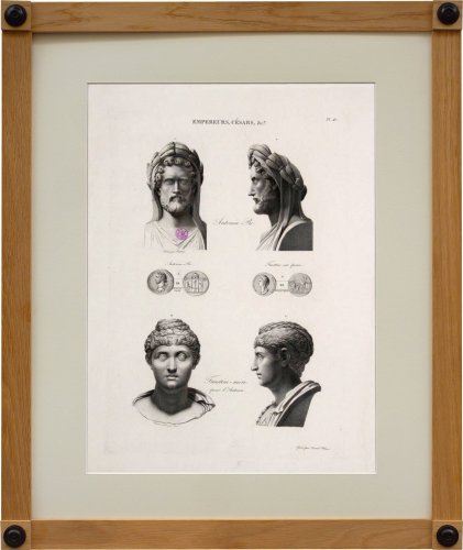 19th century - A set of six engravings from Iconographie Romaine by Visconti . Paris 1817