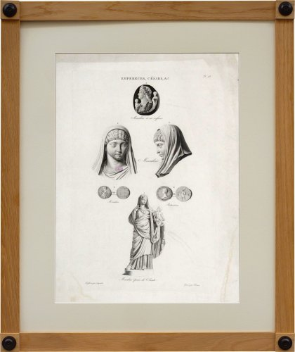 A set of six engravings from Iconographie Romaine by Visconti . Paris 1817 - Restauration - Charles X