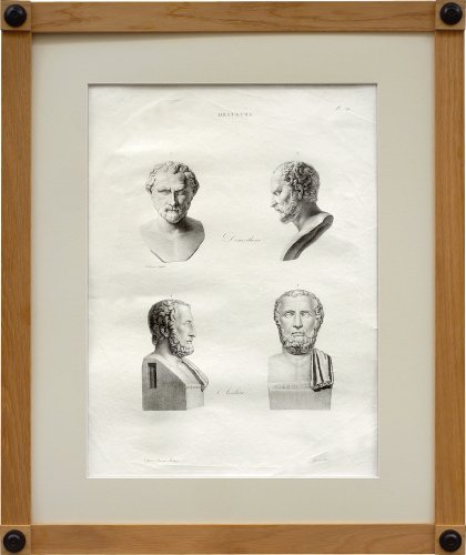 Restauration - Charles X - A set of six engravings from Iconographie Romaine by Visconti . Paris 1817