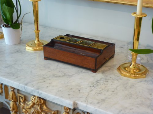 Decorative Objects  - An Empire mahogany and ebony inkstand - Paris circa 1810