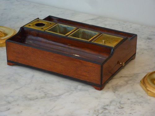19th century - An Empire mahogany and ebony inkstand - Paris circa 1810