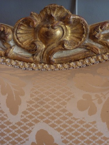 18th century - An important gilded and lacquered Louis XV sofa attributed to Louis Cresson