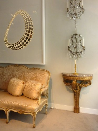 Furniture  - A pair of giltwood console tables after the design of Richard de Lalonde