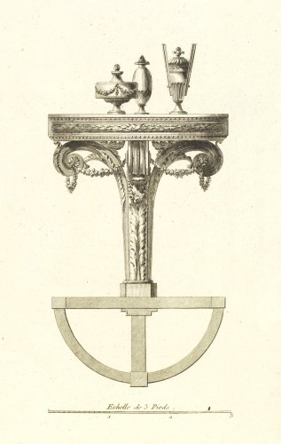 A pair of giltwood console tables after the design of Richard de Lalonde - Napoléon III