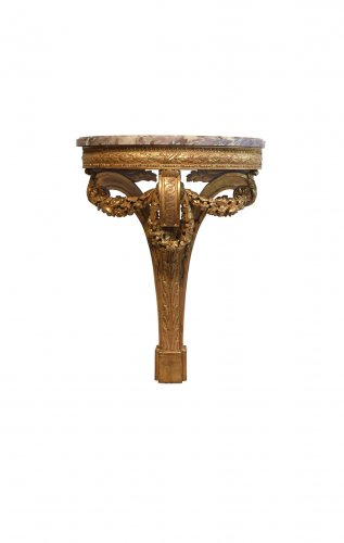 Napoléon III - A pair of giltwood console tables after the design of Richard de Lalonde