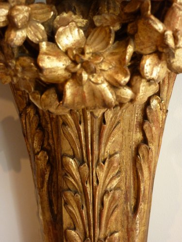 Antiquités - A pair of giltwood console tables after the design of Richard de Lalonde