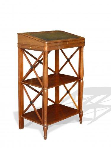 A mahogany standing desk. Paris circa 1820