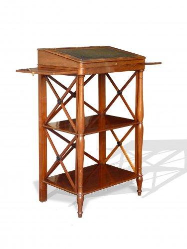 Furniture  - A mahogany standing desk. Paris circa 1820
