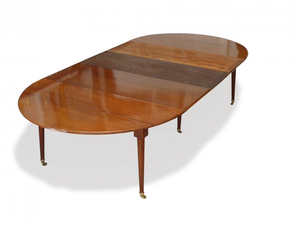 Table de salle manger d 39 poque louis xvi en acajou de for Prix d une table de salle a manger
