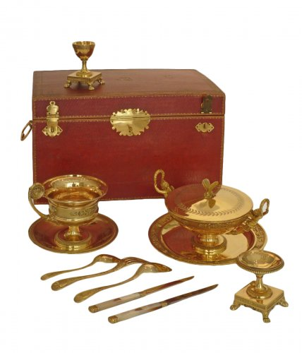 JBC ODIOT - An empire silver-gilt travelling necessaire - Paris 1809-1819
