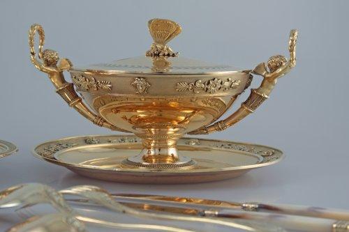JBC ODIOT - An empire silver-gilt travelling necessaire - Paris 1809-1819 -