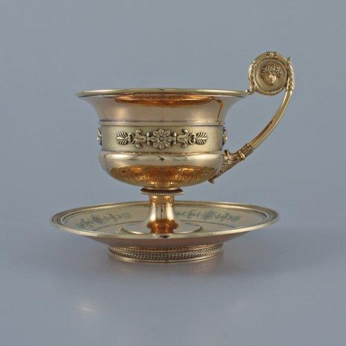 Empire - JBC ODIOT - An empire silver-gilt travelling necessaire - Paris 1809-1819