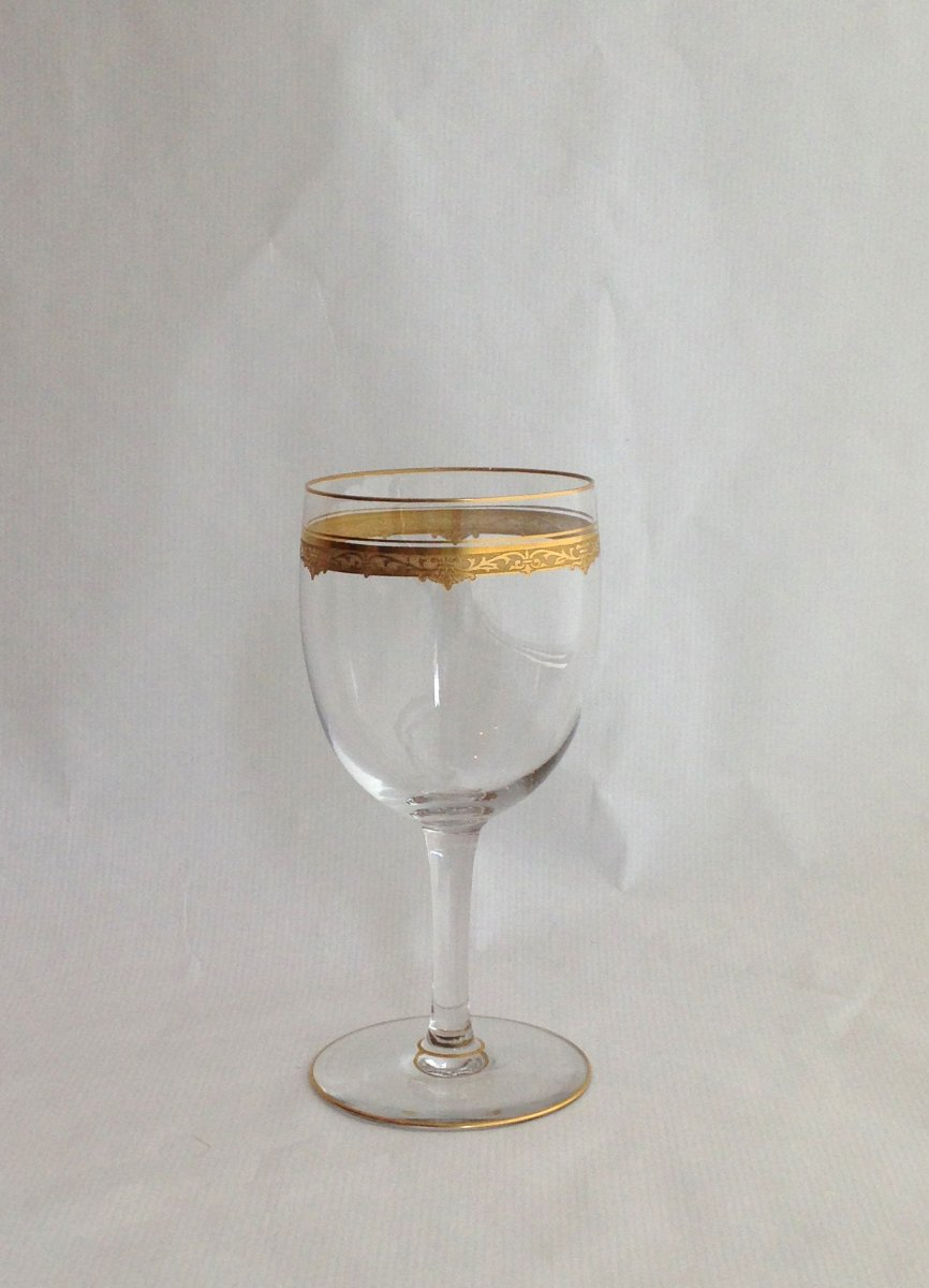 Saint louis service de verres en cristal grav et dor for Craft stores st louis