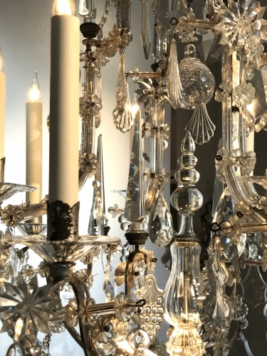 A large Maria Theresia eight-light Bohemian crystal chandelier. - Lighting Style