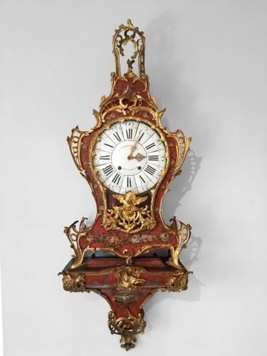 A Louis XV ormolu mounted vernis européen cartel clock - Clocks Style Louis XV