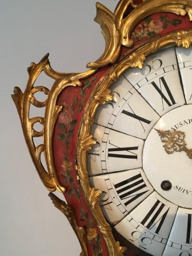 A Louis XV ormolu mounted vernis européen cartel clock -