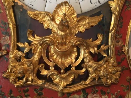 A Louis XV ormolu mounted vernis européen cartel clock - Louis XV
