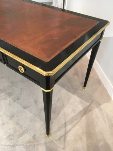 19th century - A late 19th century ormolu-mounted ebony and ebonised bureau plat - desk