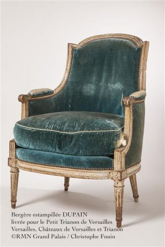 Antiquités - A Louis XVI bergère signed Dupain, Paris circa 1785