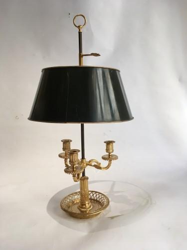 A Louis XVI gilt-bronze three-light bouillotte Lamp -