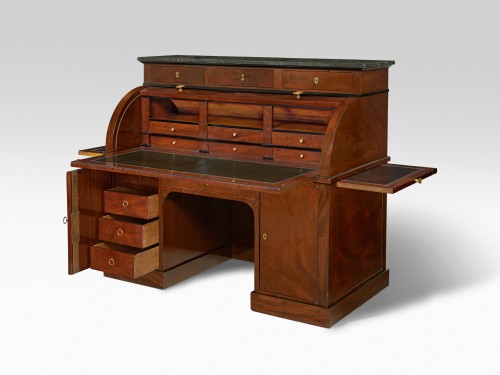 Empire - Jacob Desmalter - A mahogany roll top desk - Empire