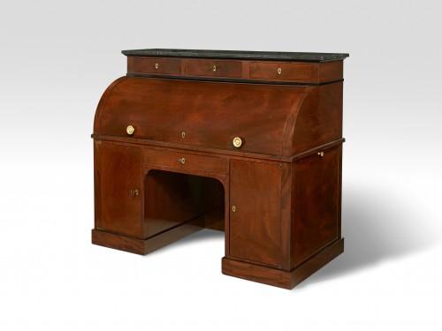 Furniture  - Jacob Desmalter - A mahogany roll top desk - Empire