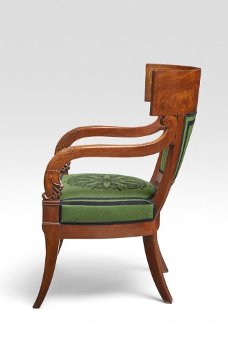 19th century - A pair of klismos armchairs by Pierre Antoine Bellangé