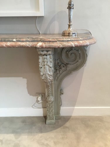 19th century - A large Louis XIV style marble console