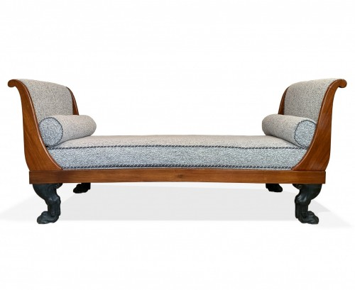 A Consulat mahogany Daybed attributed to Demay.