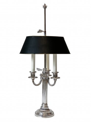 Lighting  - A pair of three light bouillotte lamps