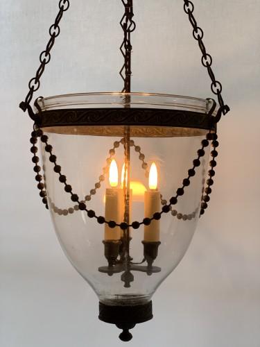 Lighting  - A pair of Georgian bell jar lanterns