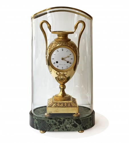 A gilt-bronze mantel clock, Empire, early 19th century