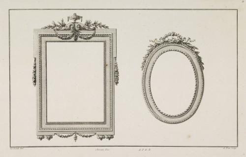 18th century - A large Louis XVI rectangular giltwood mirror