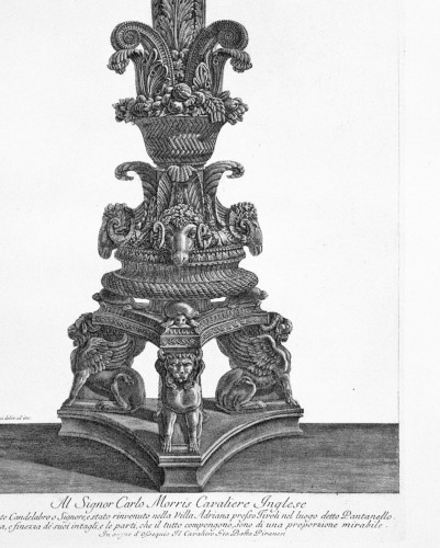 Giovanni Battista PIRANESI (1720-1778) - Candelabrum - Engravings & Prints Style