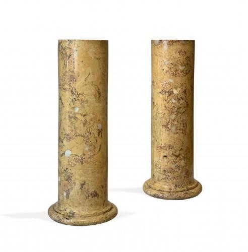 A pair of scagliola columns. First quater 19th century