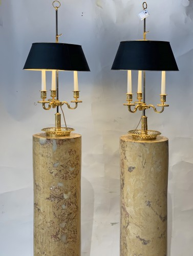 A pair of scagliola columns. First quater 19th century -
