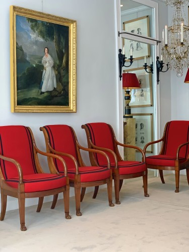 A set of four mahogany armchairs signed DEMAY - Paris circa 1800 - Seating Style